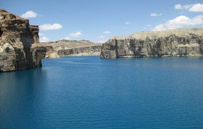Body of water between cliffs in Afghanistan