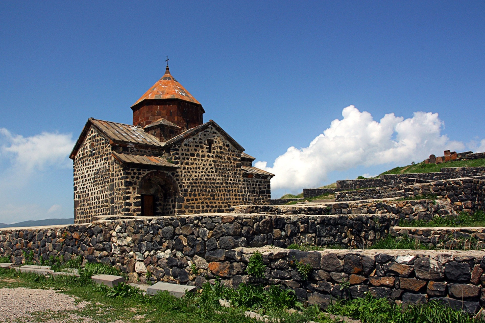 Old Armenian chapel located on a hill