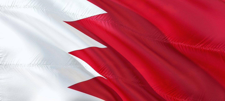 Flag of Bahrain waving in the air