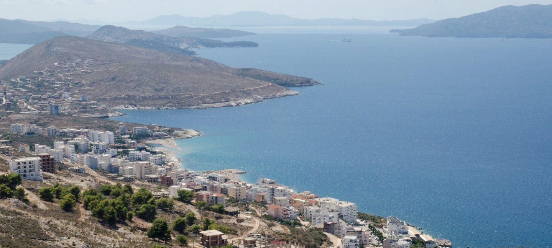 Albanian town on the coast of the Mediterranean sea