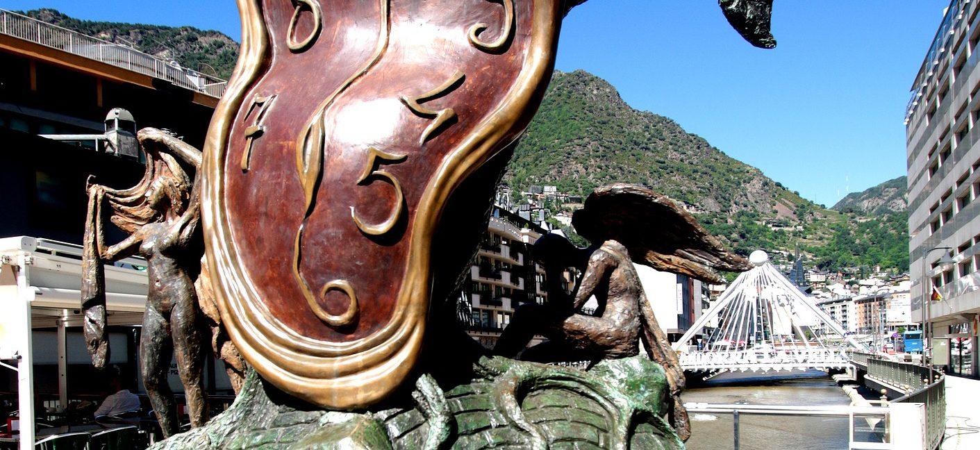 Persistence of Memory by Salvador Dali in Andorra La Vella