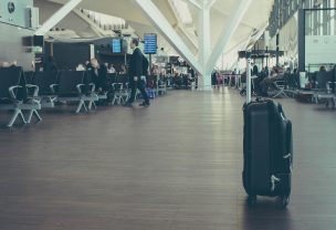 Image of a lost baggage in an airport