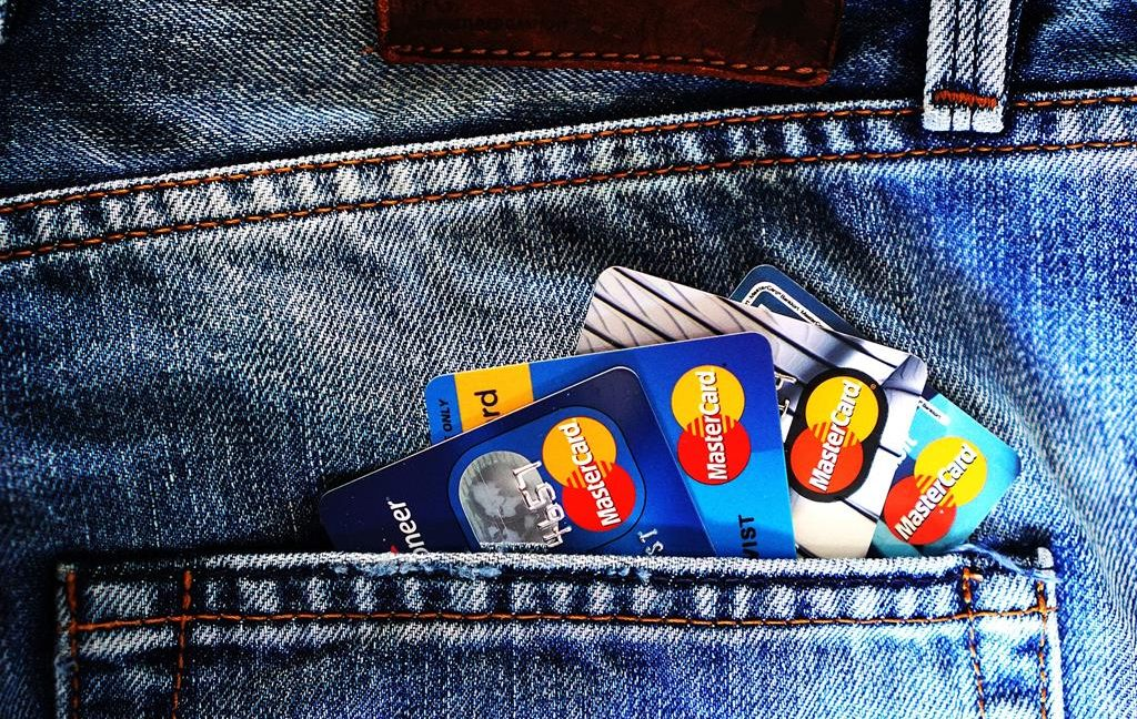 Image of credit cards in jeans backpocket